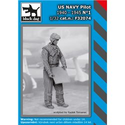 BLACK DOG F32074 1/32 US NAVY pilot 1940-45 N1
