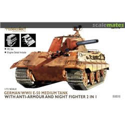 MODELCOLLECT UA72178 1/72 Germany WWII E-50 Medium Tank with anti-armour and night fighter 2 in 1