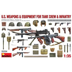 MINIART 35334 1/35 U.S. Weapons & Equipment for Tank Crew & Infantry