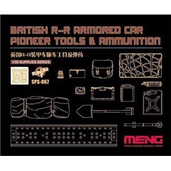 MENG SPS-067 1/35 British R-R Armored Car Pioneer Tools & Ammunition (RESIN)