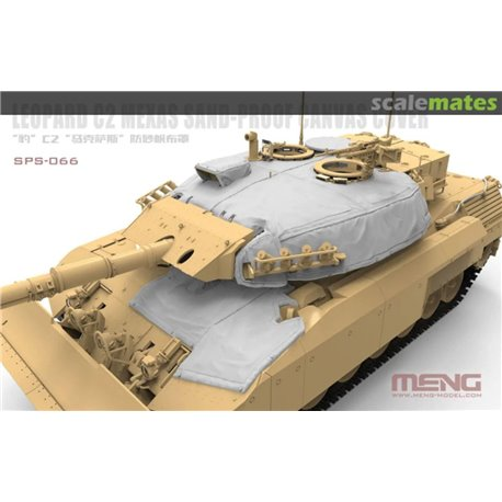MENG SPS-066 1/35 Canadian Main Battle Tank Leopard C2 MEXAS Sand-Proof Canvas Cover(Resin)