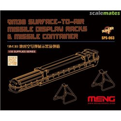 MENG SPS-063 1/35 9M38 Surface-to-air Missile DisplayRacks & Missile Container (Resin)