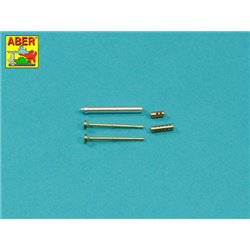 ABER 35 L-274 1/35 Armament for French Light Armoured Car AML-60-7, barrel for 7,62mm Macxhine guns x 2 pcs