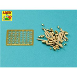 ABER 16058B 1/16 German Stielhandgranate 24 –set of 15 pcs. Metal and wood parts