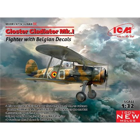 ICM 32040BE 1/32 Gloster Glad.Mk1 Belgian Decal