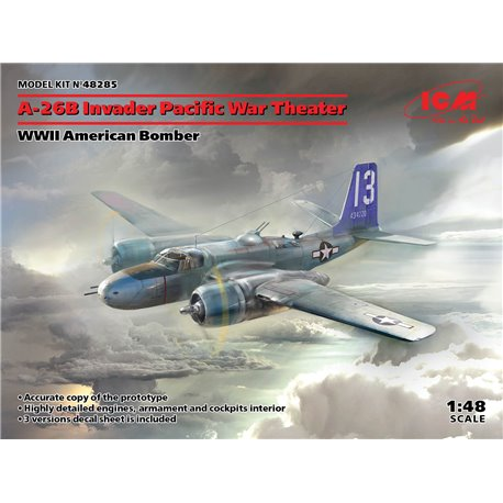 ICM 48285 1/48 A-26 Invader Pacific War Theater, WWII American Bomber