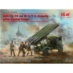 ICM 35592 1/35 BM-13-16 on W.O.T. 8 chassis with Soviet Crew
