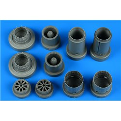 AIRES 4828 1/48 Rafale exhaust nozzles for Revell