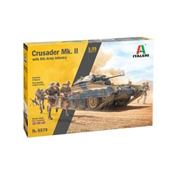 ITALERI 6579 1/35 Crusader II w/ 8th Army Infantry