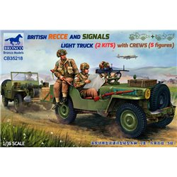 BRONCO CB35218 1/35 Recce And Signals Light Truck (2 Kits)with Crew (5 figures)