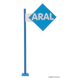 VIESSMANN 1376 1/87 ARAL sign with LED lighting