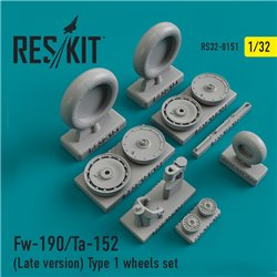 RESKIT RS32-0151 1/32 Focke-Wulf Fw-190/Ta-152 (Late version) Type 1 wheels set