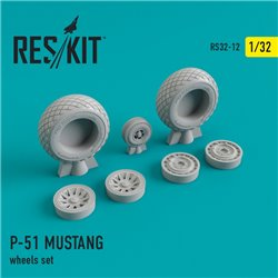 RESKIT RS32-0012 1/32 North American P-51 Mustang wheels set