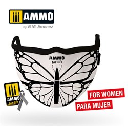 "AMMO BY MIG A.MIG-8074 AMMO FACE MASK for Life ""Butterfly"""