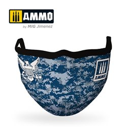 "AMMO BY MIG A.MIG-8073 AMMO FACE MASK ""Navy Blue Camo"""