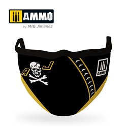 "AMMO BY MIG A.MIG-8070 AMMO FACE MASK ""Jolly Rogers"""