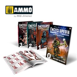 AMMO BY MIG A.MIG-6219 Complete Encyclopedia of Figures Modelling Techniques - 4 volumes