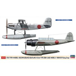 HASEGAWA 02357 1/72 E7K1 Type 94 Model 1 Reconnaissance Seaplane & E13A1 Type Zero (Jake) Model 11