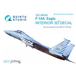 QUINTA STUDIO QD48038 1/48 F-15A 3D-Printed & coloured Interior on decal paper (for GWH kit)