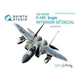 QUINTA STUDIO QD48039 1/48 F-15C 3D-Printed & coloured Interior on decal paper (for GWH kit)