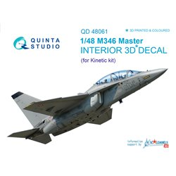 QUINTA STUDIO QD48061 1/48 M346 Master 3D-Printed & coloured Interior on decal paper (for Kinetic kit)