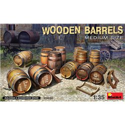 MINIART 35630 1/35 Wooden Barrels. Medium Size