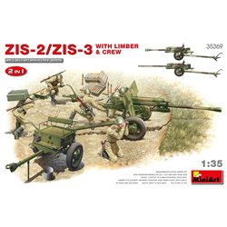 MINIART 35369 1/35 ZiS-2/ZiS-3 with Limber & Crew