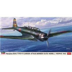 HASEGAWA 07499 1/48 Nakajima B5N2 Type 97 Carrier Attack Bomber (Kate) Model 3 'Midway 1942'