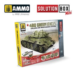AMMO BY MIG A.MIG-7900 Solution Box MINI - 4BO Green Vehicles