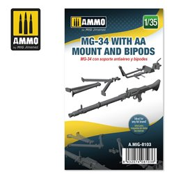 AMMO BY MIG A.MIG-8103 1/35 MG-34 WITH AA MOUNT AND BIPODS