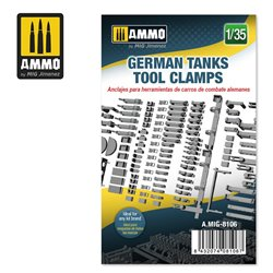 AMMO BY MIG A.MIG-8106 1/35 GERMAN TANKS TOOL CLAMPS