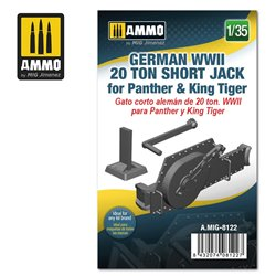 AMMO BY MIG A.MIG-8122 1/35 German WWII 20 ton Short Jack for Panther & King Tiger