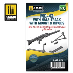 AMMO BY MIG A.MIG-8123 1/35 MG-42 with Half-Track Mount and Bipods