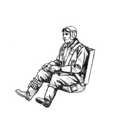 CMK F48368 1/48 Bf 109G German Pilot, seated (for Eduard kits)