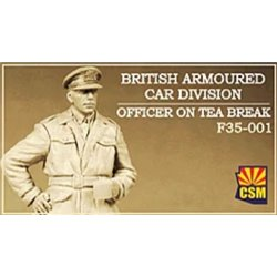 COPPER STATE MODEL F35001 1/35 British Armoured Car Division Officer on Tea Break