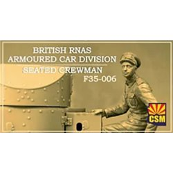 COPPER STATE MODEL F35006 1/35 British RNAS Armoured Car Division seated crewman