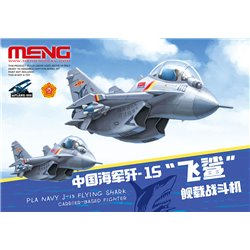 MENG mPLANE-008 PLA Navy J-15 Flying Shark Carrier-Based Fighter (CARTOON MODEL)