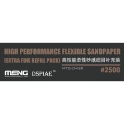 MENG MTS-042e High Performance Flexible Sandpaper (Extra Fine Refill Pack/2500#)