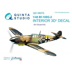 QUINTA STUDIO QD48075 1/48 Bf-109G-2 3D-Printed & col. Int. on decal paper