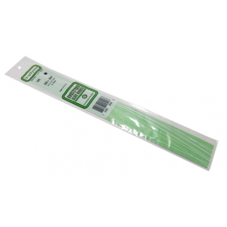 EVERGREEN Scale Models EG120 0.5 x 0.5 mm square section 10 Strips