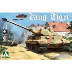 TAKOM 2074S 1/35 Sd.Kfz.182 King Tiger Porsche Turret w/New Track Parts