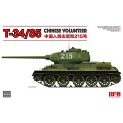 RYE FIELD MODEL RM-5059 1/35 T-34/85 Chinese Volunteer 215