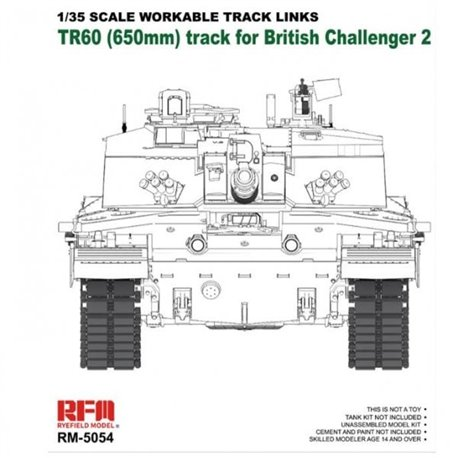 RYE FIELD MODEL RM-5054 1/35 Workable track for Challenger 2
