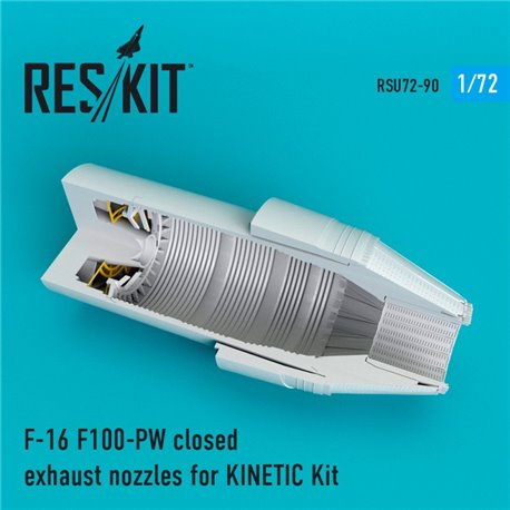 RESKIT RSU72-0090 1/72 F-16 F100-PW closed exhaust nozzles for KINET