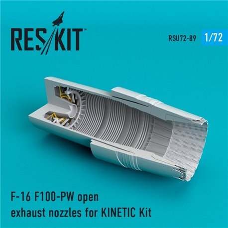 RESKIT RSU72-0089 1/72 F-16 F100-PW open exhaust nozzles for KINETIС