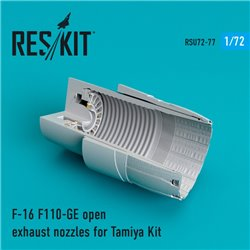 RESKIT RSU72-0077 1/72 F-16 F110-GE open exhaust nozzles for Tamiya