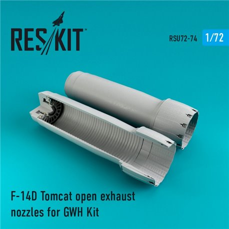 RESKIT RSU72-0074 1/72 F-14D Tomcat open exhaust nozzles for GWH Kit
