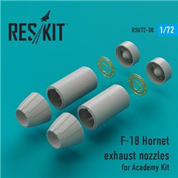 RESKIT RSU72-0030 1/72 F-18 Hornet exhaust nozzles for Academy Kit