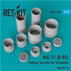 RESKIT RSU72-0016 1/72 MiG-31 (B/BS) exhaust nozzles for Trumpeter