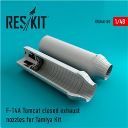 RESKIT RSU48-0080 1/48 F-14A Tomcat closed exhaust nozzles for Tamiy